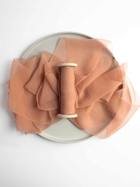 Fawn Silk Gauze Ribbon from The Lesser Bear