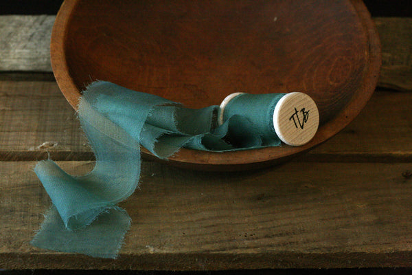 Fir Gauze Silk Ribbon *Sale Price* from The Lesser Bear