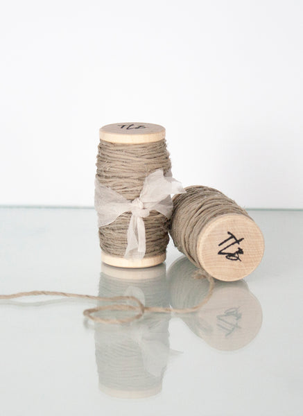 Grey Gauze Spun Silk Ribbon Twine from The Lesser Bear