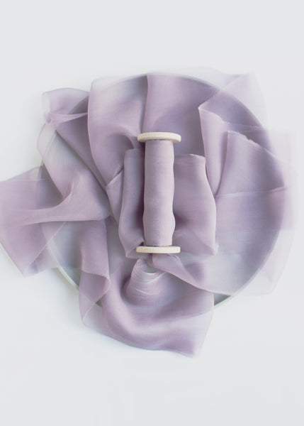 Naturally Dyed Silk Gauze Ribbon Hand Dyed by The Lesser Bear