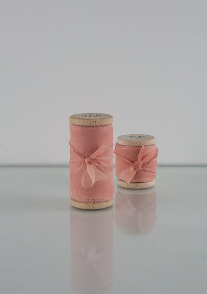 Peach Pearl Silk Gauze Ribbon - The Lesser Bear