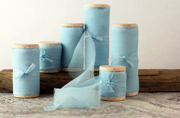 Sky Silk Gauze Ribbon from The Lesser Bear