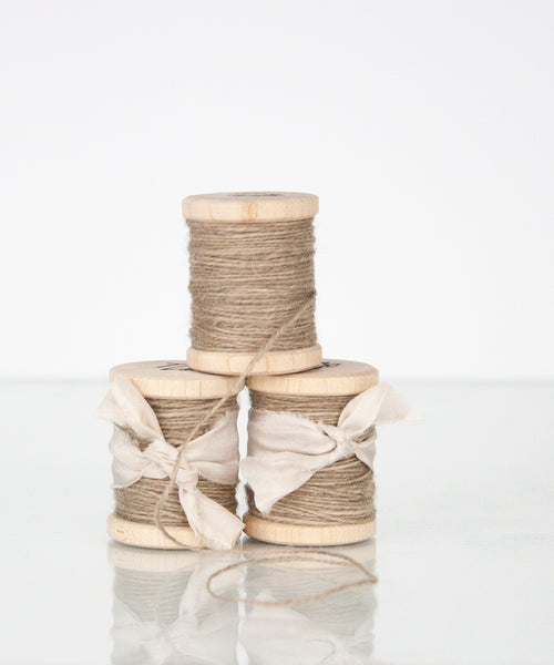 Taupe Silk/Wool Twine, Hand Spun and Naturally Dyed. from The Lesser Bear