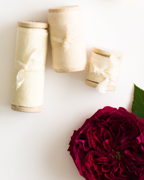 Cream Silk Ribbon in Gauze - The Lesser Bear