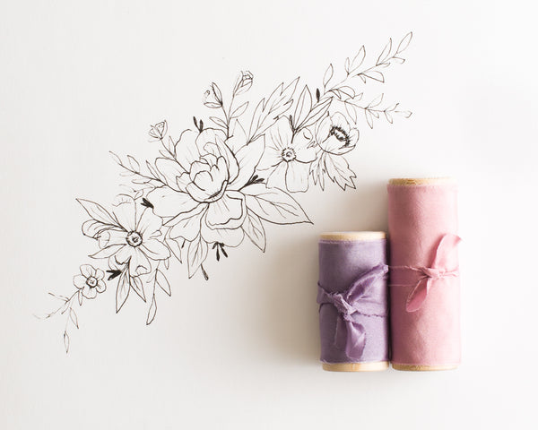 Lilac Silk Gauze Ribbon from The Lesser Bear