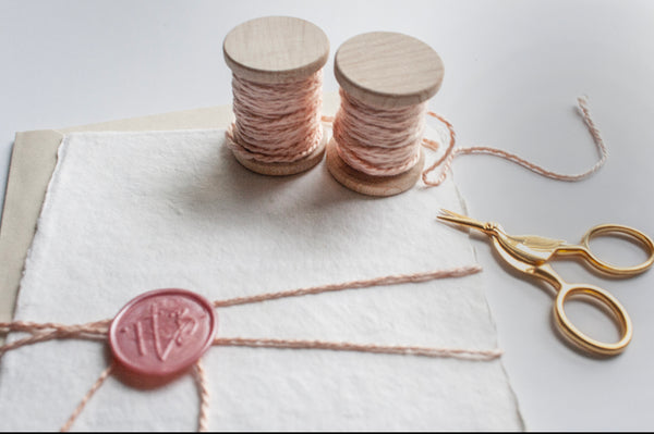 Blush Silk Twine, Hand Spun and Naturally Dyed. from The Lesser Bear