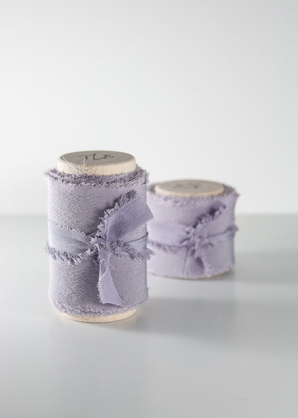Lavender Crepe de Chine Silk Ribbon - The Lesser Bear