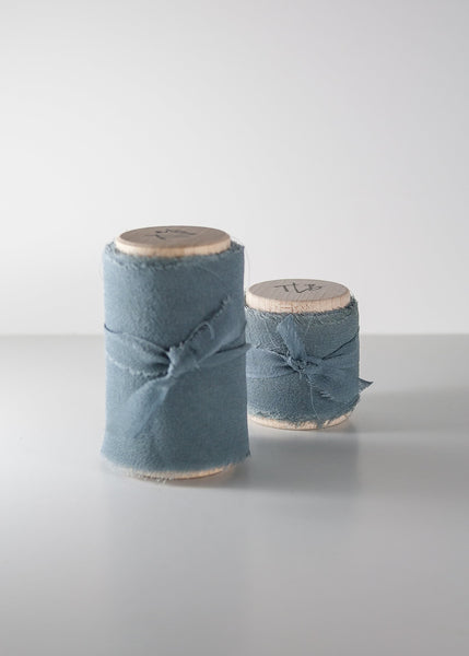 Adriatic Blue Silk Ribbon - Gauze - The Lesser Bear