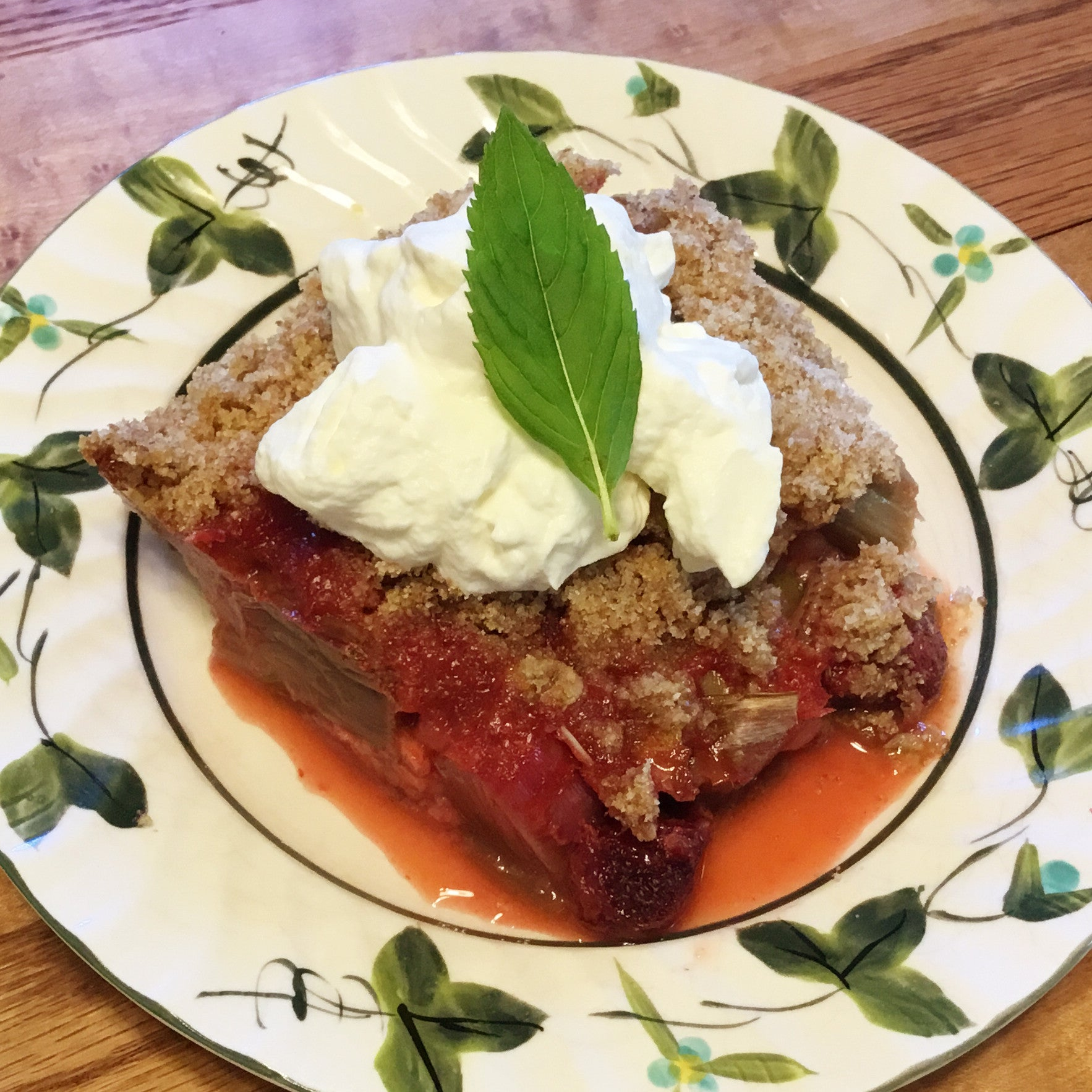 Strawberry Rhubarb Cobbler Crisp Recipe - Artisanal Boards