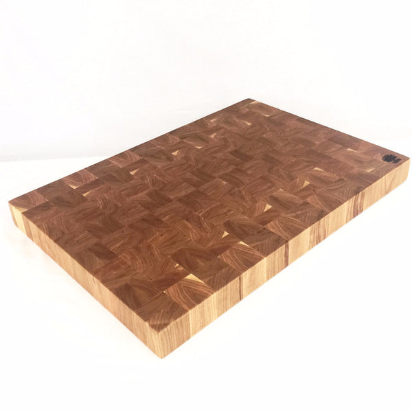 Basket Weave End Grain Cutting Boards in Walnut or Cherry