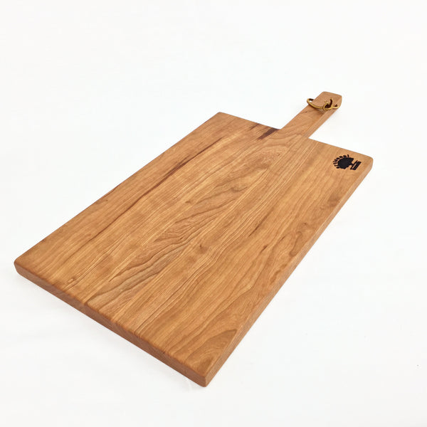 Wood Presentation Board with Handle Cherry