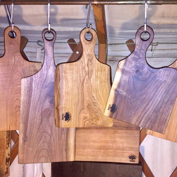 Live Edge Paddle Cheese Boards and Cutting Boards