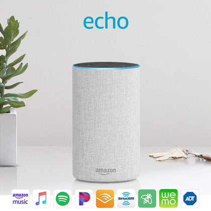 Amazon Echo 2nd Generation Speaker sandstone fabric-Let's Talk Deals!