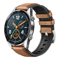 Watch GT stainless steel/saddle brown leather silicone-Let's Talk Deals!