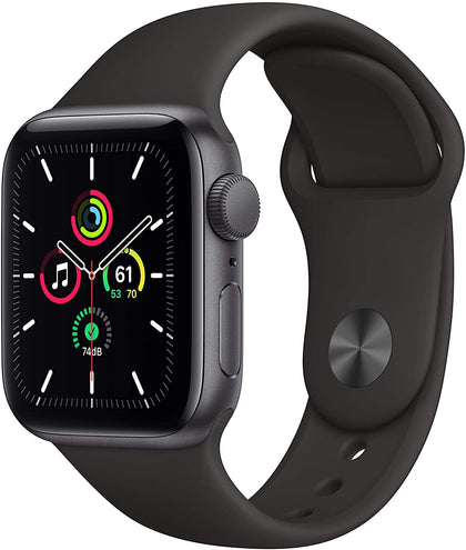 New Apple Watch SE (GPS, 40mm) - Space Gray Aluminum Case with Black Sport Band-Let's Talk Deals!