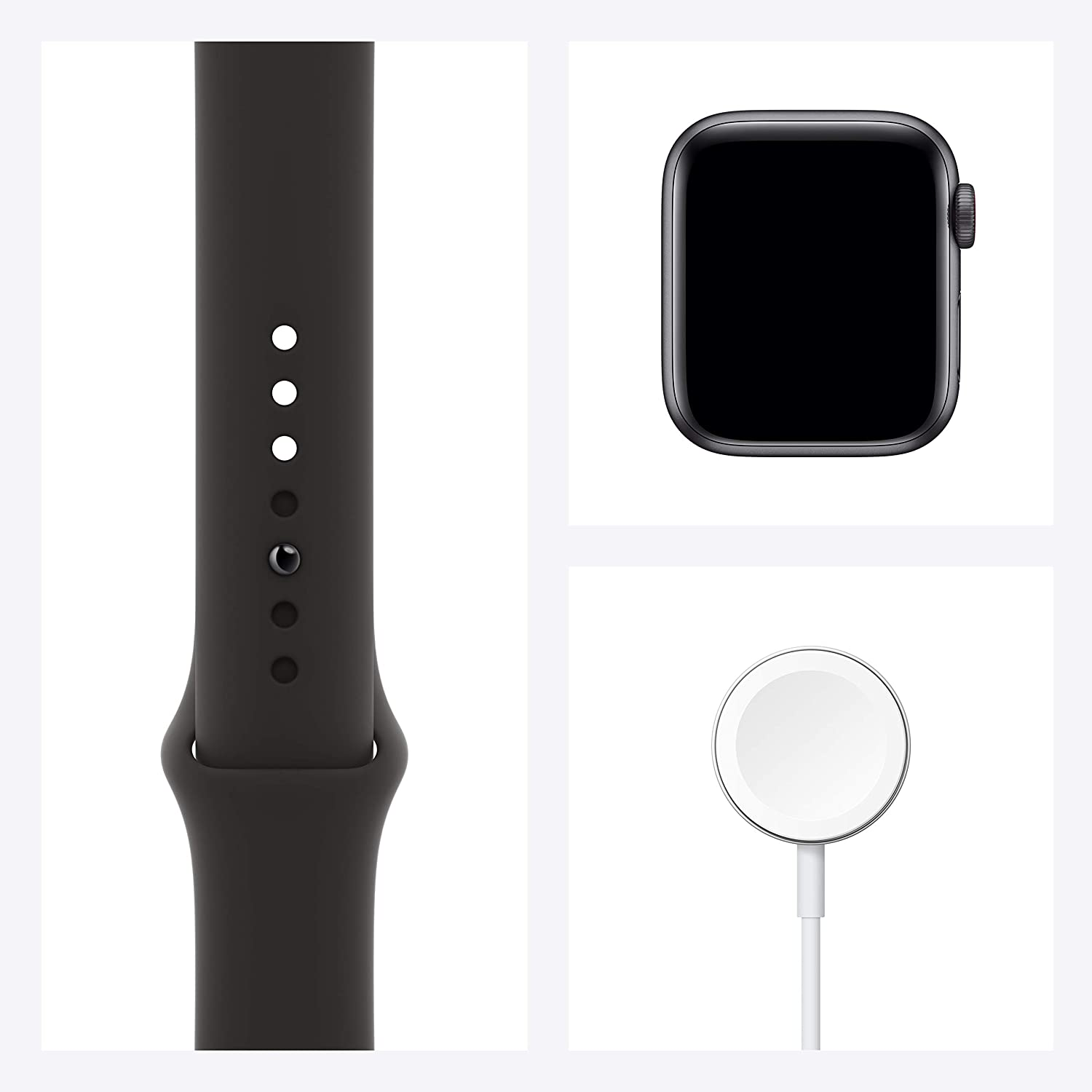 New Apple Watch SE (GPS + Cellular, 40mm) - Space Gray Aluminum Case with Black Sport Band