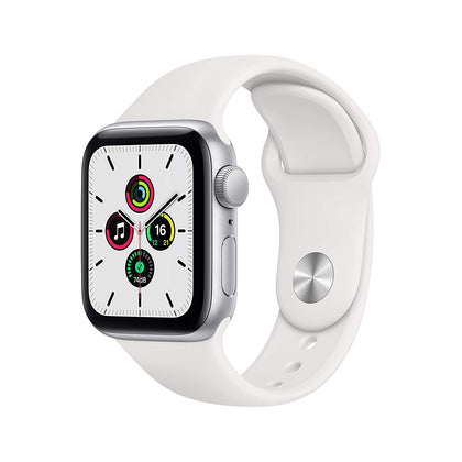 New Apple Watch SE (GPS, 40mm) - Silver Aluminum Case with White Sport Band-Let's Talk Deals!