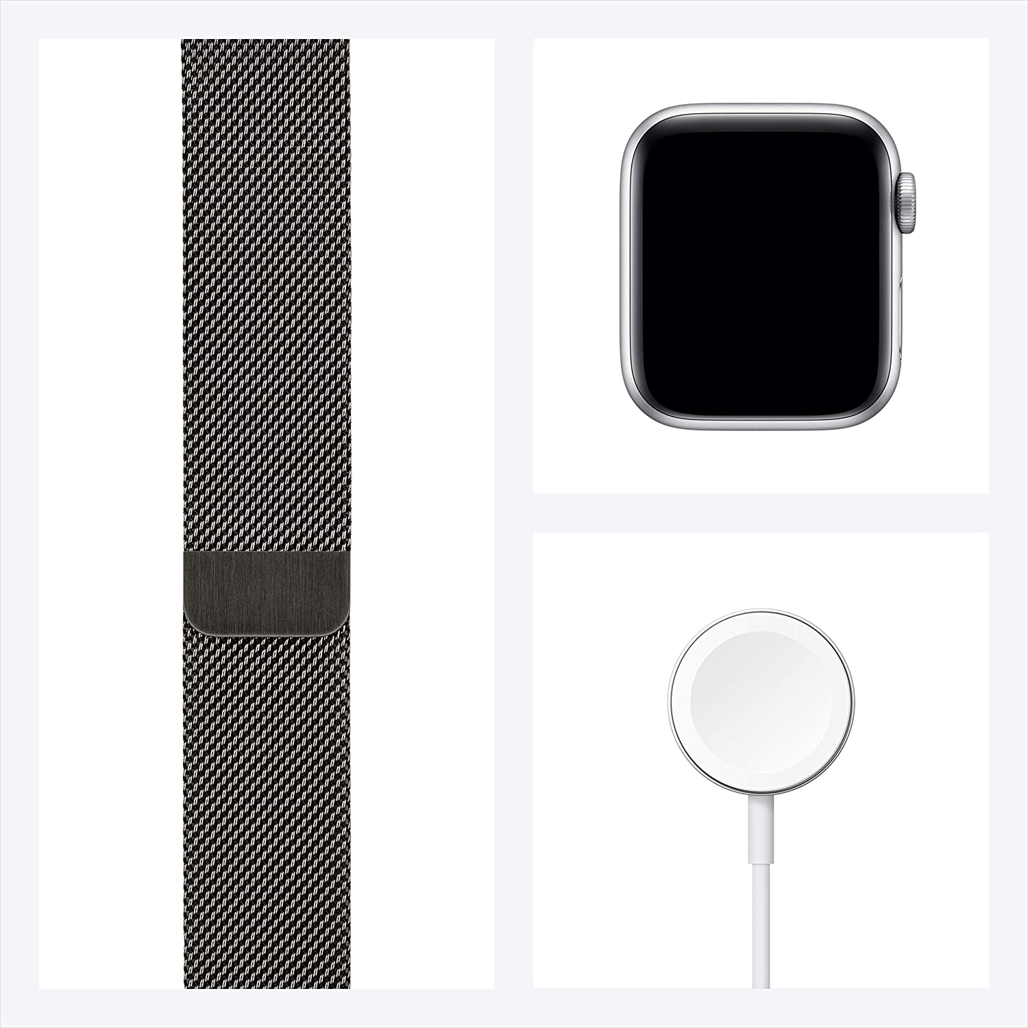 Apple Watch Series 6 (GPS + Cellular, 44mm) - Graphite Stainless Steel Case with Graphite Milanese Loop