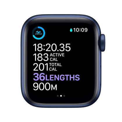 Apple Watch Series 6 (GPS 44mm) - Blue Aluminum Case with Deep Navy Sport Band-Let's Talk Deals!