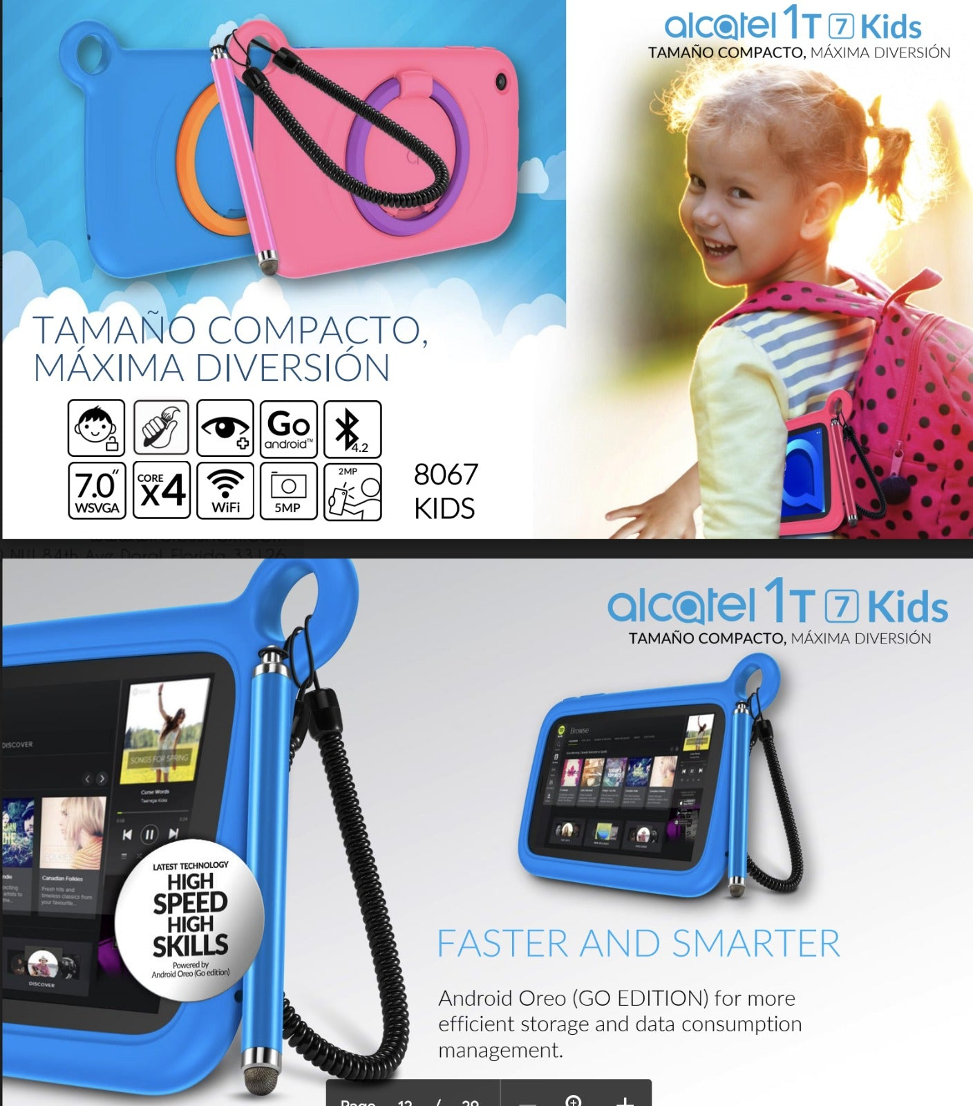 "Alcatel 1T 7""  Kids Tablet"