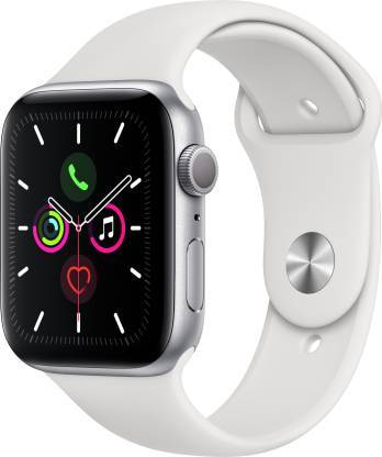 Apple Watch Series 5 GPS + Cellular, (40mm) Silver Aluminum Case with White Sport Band