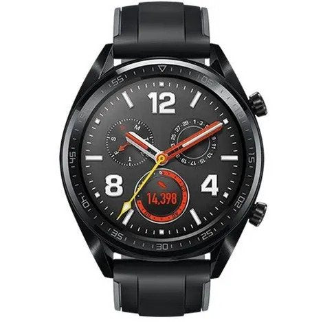 Watch GT black stainless steel/graphite black silicone
