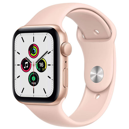 New Apple Watch SE (GPS, 44mm) - Gold Aluminium Case with Pink Sand Sport Band-Let's Talk Deals!