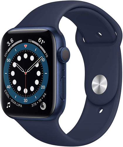 New Apple Watch Series 6 (GPS, 44mm) - Blue Aluminum Case with Deep Navy Sport Band-Let's Talk Deals!