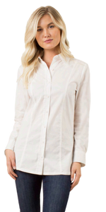 Simply Noelle Oxford Flex Top in White