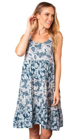 Simply Noelle Spring Fever Mixed Print Dress - Bendixen's Giftware