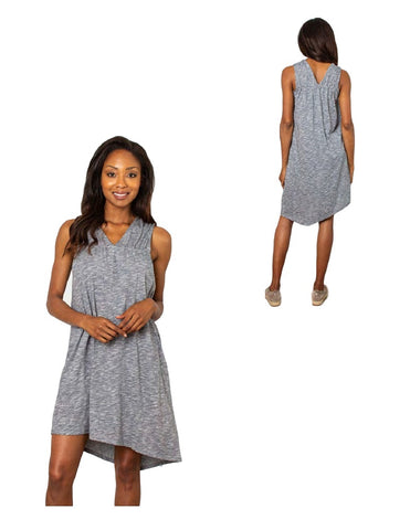 Simply Noelle V-Right Back Asymmetrical Hem Dress - Bendixen's Giftware