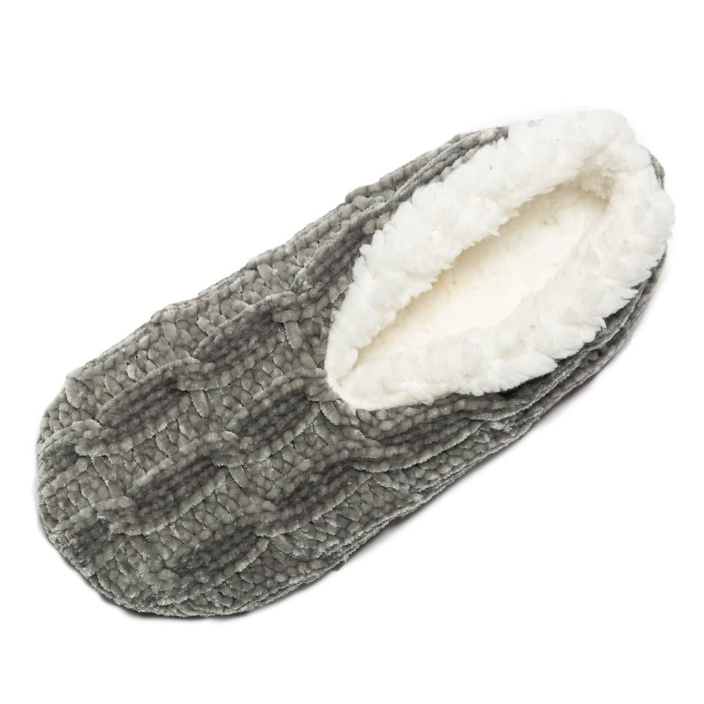 Top It Off Cheryl Chenille Lounge Slipper in  Gray - Bendixen's Giftware
