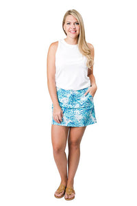 Top It Off Serena Skort Blue Coral Reef - Bendixen's Giftware
