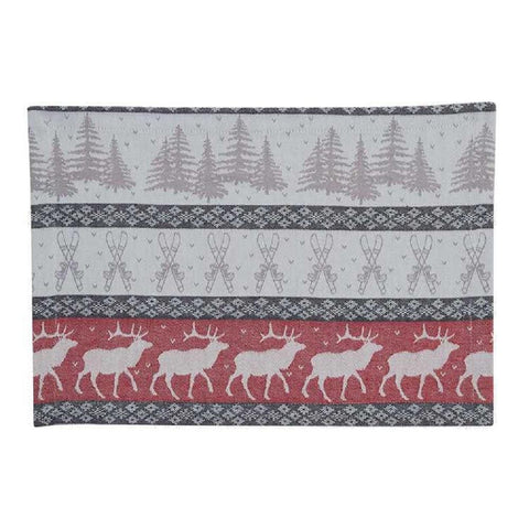Park Designs Reindeer Jacquard Placemats Set of 4 - Bendixen's Giftware