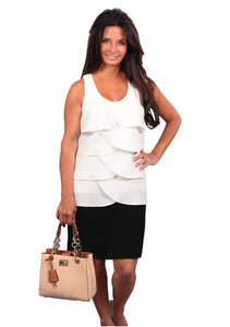Simply Noelle Two Tone Wave Shift Dress - Bendixen's Giftware