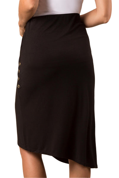 Simply Noelle Pleated Wrap Skirt in Black or Stone - Bendixen's Giftware