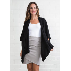 Simply Noelle Bordeaux Cardi Wrap, Choice of Neutral Colors - Bendixen's Giftware