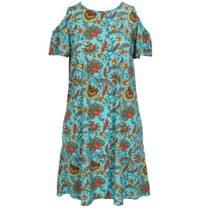 Mountain Mamas Breezy Shoulder  Dress - Flower Child - Bendixen's Giftware