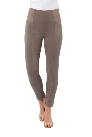 Simply Noelle Ponte Straight Pant in Taupe, EVPNT2 - Bendixen's Giftware