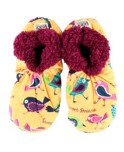 Lazy One Tweet Dreams Fuzzy Feet Slippers, Choice of Two Sizes