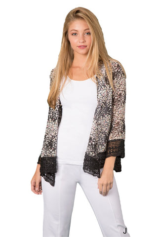 Simply Noelle Floral Lace Detail Jacket - Bendixen's Giftware