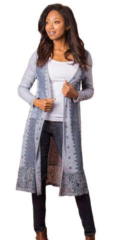 Simply Noelle LaLa Lace Long Jacket - Bendixen's Giftware
