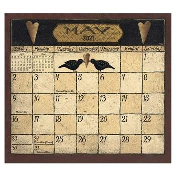 "Legacy 2021 Folk Art by David Magnetic Calendar Pad - Bendixen's ""Bit of Country"" Giftware, LLC"