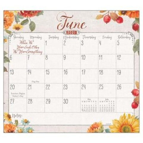 "Legacy 2021 Grateful Blooms Magnetic Calendar Pad - Bendixen's ""Bit of Country"" Giftware, LLC"