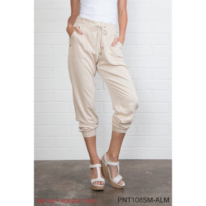 Simply Noelle Cuffed Harem Pants in Almond, 2XL - Bendixen's Giftware