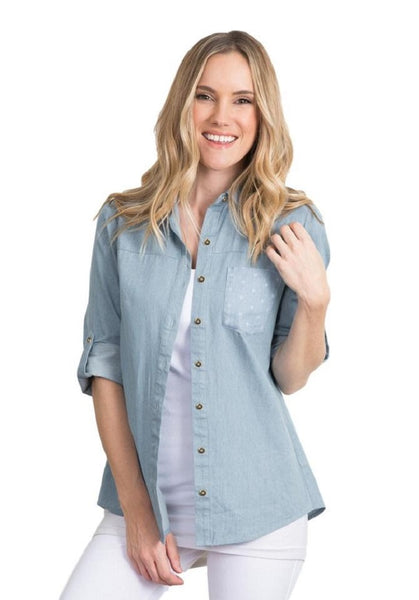 Simply Noelle The Belmont Button Up Top