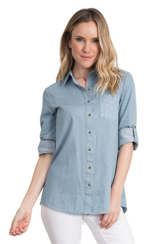 Simply Noelle The Belmont Button Up Top - Bendixen's Giftware
