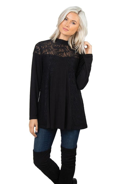 Simply Noelle Feeling Fierce Lace Overlay Top - Bendixen's Giftware