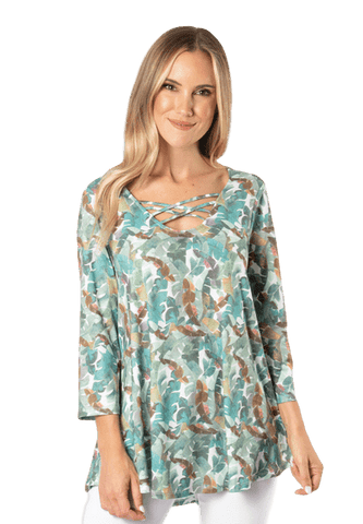 Simply Noelle Island Breeze Criss Cross Top - Bendixen's Giftware