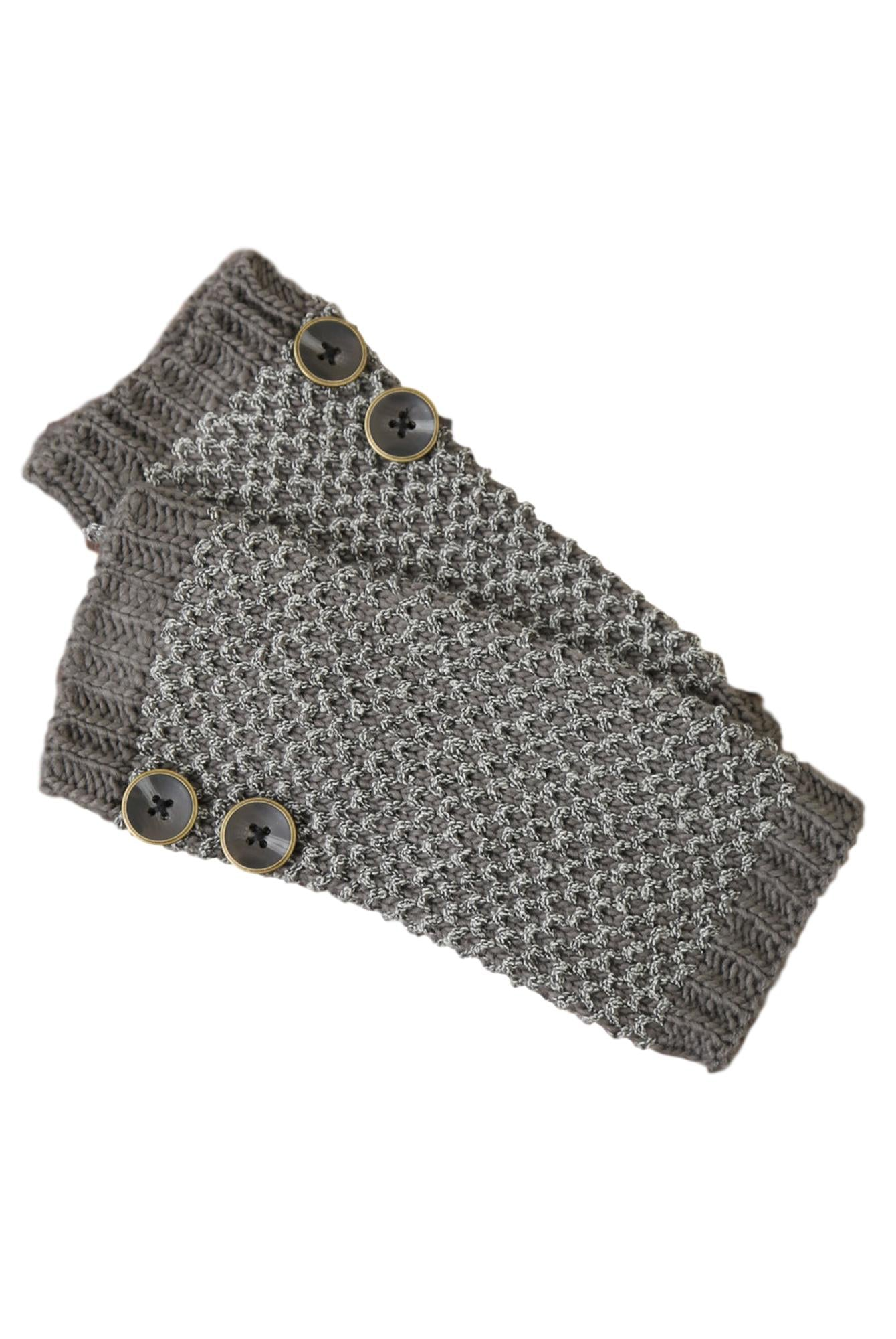 Simply Noelle Bumble Wrist Warmers W/ Buttons